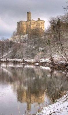 Warkworth Castle, Northumberland, England
