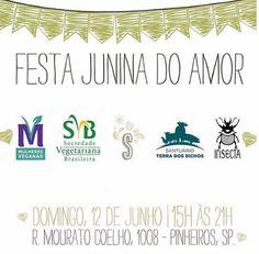 São Paulo: Festa Junina do Amor - S Simplesmente 12 de junho  Evento no Facebook: www.facebook.com/events/252856891760100    Produtos veganos são feitos sem nenhum componente de origem animal, seja secreção (leite, ovos, etc), corpos (carne, pele, ossos, etc) ou tortura (ex.: testes laboratoriais). Podem ser consumidos por intolerantes à lactose e alérgicos ao leite (APLV).   #veganismo  #eventovegano  #govegan #veganismoBrasil  #aplv #intolerâncialactose #SãoPaulo #Sampa #Sampavegana