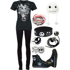 Jack Skellington, bitches!!, created by bvb3666 on Polyvore