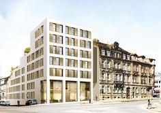 """Neubau von 55 Eigentumswohnungen und 2 Stadthäusern im Neubauprojekt """"marienTerrassen Nürnberg"""" in Nürnberg. Foto: Sontowski"""