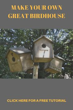In the frenetic pace of modern living, free time is all too often, a rare commodity. Try making this simple bird house project. Learn Woodworking, Woodworking Workshop, Easy Woodworking Projects, Woodworking Videos, Woodworking Plans, Woodworking Techniques, Popular Woodworking, Woodworking Enthusiasts, Easy Wood Projects