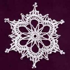 free crochet snowflakes patterns - Bing Obrázky- link to photo. not the pattern Crochet Home, Cute Crochet, Crochet Motif, Crochet Designs, Crochet Crafts, Crochet Doilies, Easy Crochet, Free Crochet Snowflake Patterns, Crochet Stars
