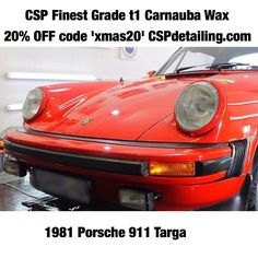 1981 Porsche 911 Targa  with CSP Finest Grade t1 Carnauba Wax. #CSPdetailingsystem #ScientificallyAdvanced Prep Products Inc: CSP pH Neutral Snow Foam. CSP Lubricated Conditioning Shampoo. CSP Versatile Citrus Wash. CSP Non-Acidic Wheel Cleaner. CSP Reactive Iron Fe. CSP CSP Long Life Tyre Trim. CSP CSP VOC free Glass Cleaner. CSP Prestige Interior Cleaner. CSP Prestige Interior Dressing. Stunning by @yce  Gloss  Protection: CSP Finest Grade t1 Carnauba Wax  #ExtremeGloss #ExtremeBeading…