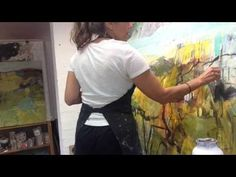 Dana Dion Artist - Painting In Progress. Timelapse painting - Sydney Australia - YouTube