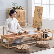 Vintage Rattan Interiérový Bambusový nábytek Stůl 100 * 40cm Asijský styl Tatami Káva / Čaj Obývací pokoj Nízký čajový stůl Bambusový stůl (Čína)
