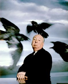 Great, uncredited portrait of the seemingly unflappable Alfred Hitchcock  - 1962.