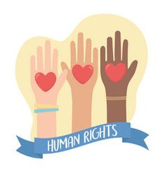 Human rights raised hands diverity hearts banner vector Words In Different Languages, People Hugging, People Working Together, Map Icons, Flag Country, Famous Monuments, Heart Banner, Tourism Day, We Are All Human