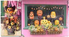 Image result for halloween window display