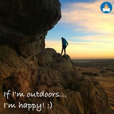 Camping, hiking, RVing or just sitting outside... the Outdoors sure makes us happy! You?