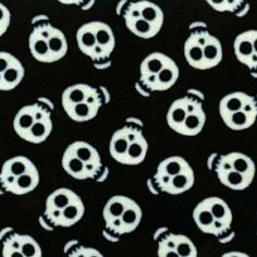 Leuchtender Totenkopfstoff - Glow in the Dark Skulls