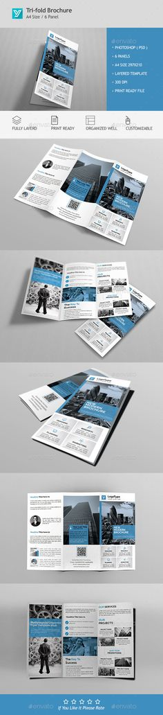 Nail Free TriFold PSD Brochure Template Httpswww - Trifold brochure template psd