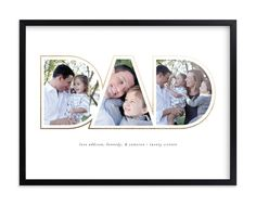 Father's Day gifts for new dads: Golden Dad Photo Art at Minted