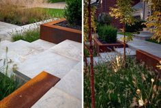 Modern Symmetry – Earth Inc. Great idea for or slopping front yard