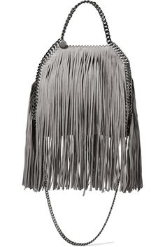 Shop on-sale Stella McCartney Mini fringed faux brushed-leather tote. Browse other discount designer Totes & more on The Most Fashionable Fashion Outlet, THE OUTNET.COM