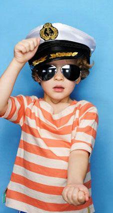 Boys & Girls Apricot Stripe Slash Neck Top