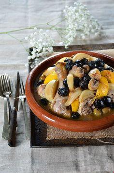Tajine poulet, citron et olives -Tangerine Zest