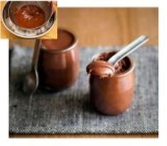 Chocolate Mousse. Only two ingredientts, chocolate and water.