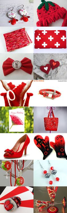 Red collection by Edna on Etsy--Pinned+with+TreasuryPin.com