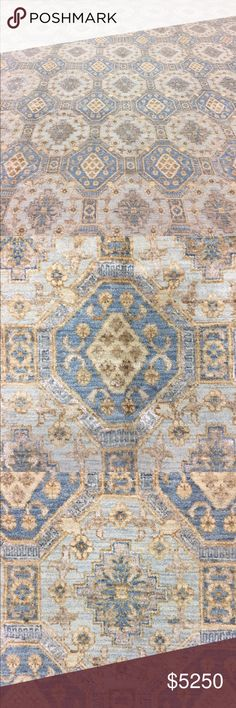 Spotted while shopping on Poshmark: Hand knotted luxury rug. Blue Rugs, Affordable Rugs, Rugs Online, Soft Colors, Carpets, Wool, Luxury, Cotton, Shopping