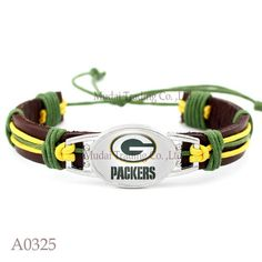 Please Share This Offer Green Bay Packers Leather CuffBracelet This…