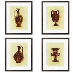 @Overstock - Artist: Leslie Saris  Title: Designs in Green & Brown I, II, IV, V  Product type: Giclee 4-piece art sethttp://www.overstock.com/Home-Garden/Leslie-Saris-Designs-in-Green-Brown-4-piece-Art-Set/4751034/product.html?CID=214117 $189.99