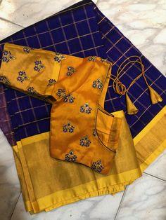 Pattu Saree Blouse Designs, Blouse Designs Silk, Blouse Patterns, Simple Blouse Designs, Stylish Blouse Design, Sleeves Designs For Dresses, Dress Neck Designs, Maggam Work Designs, Indian Sarees