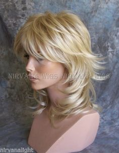 Light Blonde Mix Medium Long Layered Womans Nirvana Sarah Wig Wigs | eBay