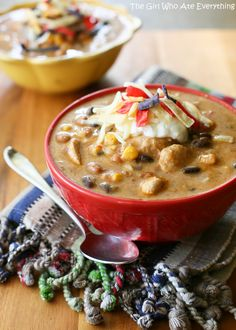 Spicy Chicken Enchilada Soup | The Girl Who Ate Everything