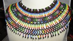beaded netting necklace patterns - Google Search