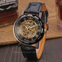 Winner Luxury Brand Men Mechanical Skeleton Leather Strap Self-Wind Watch -Forsining Watch Company Limited www.forsining.com