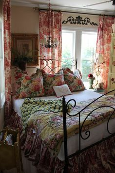 French Country Charm……Floral and Toile!