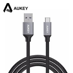 AUKEY Type C Cable Nylon Braided USB 3.0 A to Type-C Cable for Macbook Samsung Galaxy S8 Xiaomi Mi5 Meizu Pro 6 & Type C Devices #Affiliate