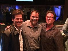 studioexpresso Oct 2014 eZine --Brent Fischer and Erik Zobler with Steve Genewick (middle) at Capitol during AES photo: by the C