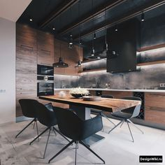 50 Classic and Elegant Kitchen Design For Interior Design These trendy Kitchen ideas would gain you amazing compliments. Check out our gallery for more ideas these are trendy this year. Loft Kitchen, Apartment Kitchen, Kitchen Interior, Kitchen Modern, Kitchen Living, Diy Kitchen, Kitchen Hacks, Kitchen Cabinets, Brown Cabinets