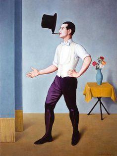 sugarmeows:    The Juggler – Antonio Donghi (1897–1963)