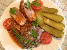 Bravčový bôčik (fotorecept) - Recept Steak, Food, Red Peppers, Essen, Steaks, Meals, Yemek, Eten