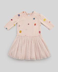 Stella McCartney Primrose Dress with Jewel-Print. Baby.