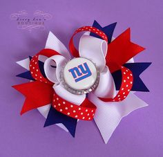 I got this for Emily!!     NY Giants Custom Football Team Bottle Cap by LivvyLousBoutique, $7.50
