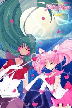 Sailor Chibi Moon and Sailor Pluto