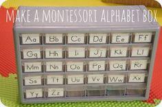 How to make a Montessori Alphabet Box from Wildflower Ramblings