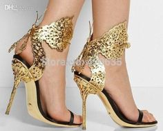 Best Quality Wholesale Filigree Butterfly Laser Cut Leather &Amp; Satin Sandals Ankle Strap Women Sandals High Heel Brand At Cheap Price, Online Sandals | Dhgate.Com