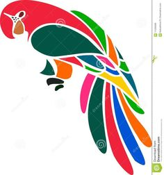 Illustration of wild – 111293599 Photo about A stylized illustration of beautiful and colorful Macaw parrot bird. Illustration of wild, beautiful, colorful – 111293599 Bird Stencil, Stencil Painting, Fabric Painting, Damask Stencil, Stencil Patterns, 3d Pencil Drawings, Bird Template, Parrot Bird, Silhouette Art