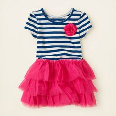 baby girl - dresses & rompers - striped tutu dress | Children's Clothing | Kids Clothes | The Children's Place