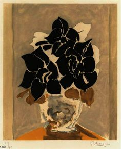 'The Amaryllis' by Georges Braque (1882-1963, France)