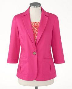Mini piqué jacket - [K18246]