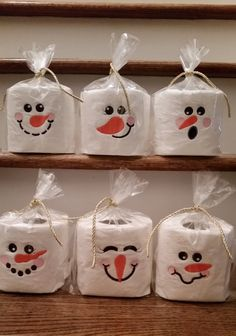 Need something for that White Elephant gift or a gag gift for a friend or relative? Here is just the thing! Cute little snowmen faces embroidered on toilet paper. It will we the talk of the bathroom!  Choose the face you want from the style box.