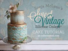 Sonja McLean's Sweet Vintage Onlays Cake Tutorial Tutorial on Cake Central