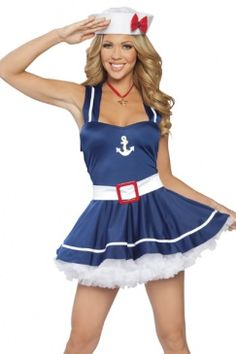 Standard Tween Scene Sailor Girl Navy Teen Costume
