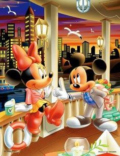 Mickey And Minnie On A Cruise Around New York City
