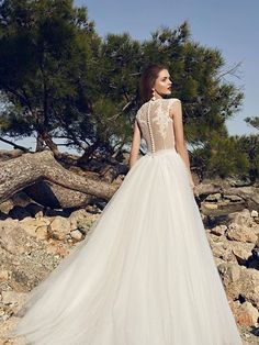 """The 2017 """"The Heart of The Ocean Collection"""" bridal collection by Lanesta features delicately beautiful wedding dresses with a sophisticated flair. Top Wedding Dresses, Wedding Dress Accessories, Gorgeous Wedding Dress, Wedding Gowns, Snow White Wedding, Bohemian Gown, Mod Wedding, Wedding Ring, Dream Wedding"""